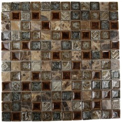 ROMAN COLLECTION BURNT RUSSET 1X1 GLASS TILE_MAIN