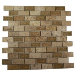 ROMAN COLLECTION DESERT TAN 1X2 BRICK GLASS TILE_MAIN