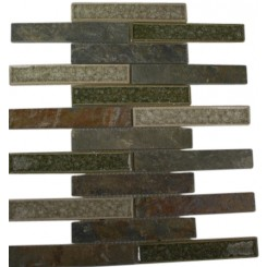 ROMAN COLLECTION EMPERIAL SLATE 1X6 BRICK GLASS TILE_MAIN