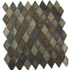 ROMAN COLLECTION EMPERIAL SLATE DIAMOND GLASS TILE_MAIN