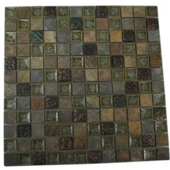 ROMAN COLLECTION FOREST TRAIL W/ DECO 1X1 GLASS TILE_MAIN