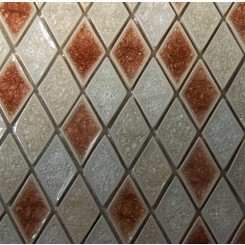 sample-ROMAN COLLECTION ROSSO BLEND DIAMOND 1/4 SHEET GLASS TILES SAMPLE_MAIN