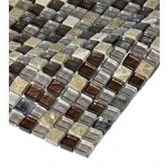 "sample- LEATHER BOOT BROWN BLEND 1/2 X 1/2""  TILE 1/4 SHEET SAMPLE""_MAIN"
