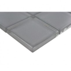 SAMPLE - LOFT ASH GRAY POLISHED 2X2 GLASS TILES 1 PIECE SAMPLE_1