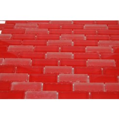 sample-LOFT CHERRY RED 1/2x2 brick 1/4 SHEET SAMPLE TILES_MAIN