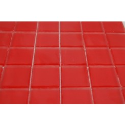 SAMPLE - LOFT CHERRY RED FROSTED 2x2 GLASS TILES 1 PIECE SAMPLE_MAIN