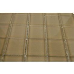 SAMPLE - LOFT KHAKI POLISHED 2x2 GLASS TILES 1 PIECE SAMPLE_MAIN