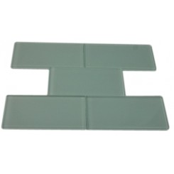 SAMPLE - LOFT SEAFOAM POLISHED 3X6 GLASS TILES 1 PIECE SAMPLE_MAIN