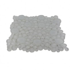 SAMPLE - LOFT SUPER WHITE CIRCLES GLASS TILES_1