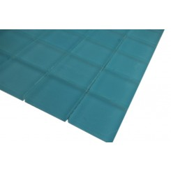 SAMPLE - LOFT TURQUOISE FROSTED 2x2 GLASS TILES 1 PIECE SAMPLE_3