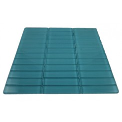SAMPLE - LOFT TURQUOISE POLISHED 1X4 GLASS TILES 1 PIECE SAMPLE_MAIN