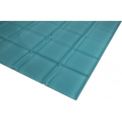 SAMPLE - LOFT TURQUOISE POLISHED 2x2 GLASS TILES 1 PIECE SAMPLE_4