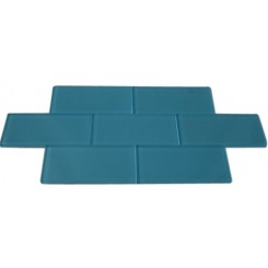 SAMPLE - LOFT TURQUOISE POLISHED 3X6 GLASS TILES 1 PIECE SAMPLE_MAIN