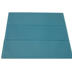SAMPLE - LOFT TURQUOISE POLISHED 4X12 GLASS TILES 1 PIECE SAMPLE_MAIN