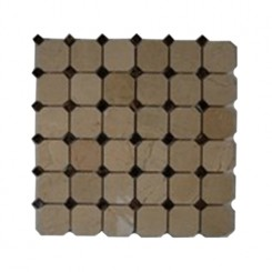 sample-OCTAGON CREMA MARFIL WITH DE DOT TILE 1/4 SHEET SAMPLE_MAIN