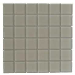 Sample-Loft Sand Beach 2x2 Frosted Glass Tile Sample