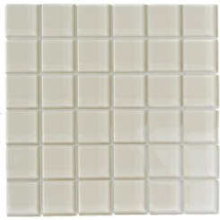 Sample-Loft Sand Beach 2x2 Polished Glass Tile Sample