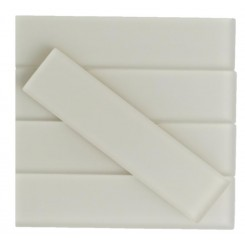 Sample-Loft Sand Beach Frosted 2x8 Glass Tile Sample