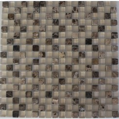 "Sandscape Blend Squares 1/2"" X 1/2"" Marble & Glass Tile"