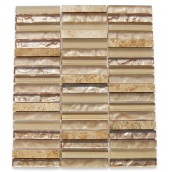 Alloy Sinai Desert 1/2 x 4 Stacked Glass Tile