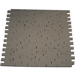 SNOW WHITE 1/2X2 MARBLE TILES CRACKED JOINT CLASSIC BRICK LAYOUT_MAIN