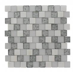 Vestige Ice Mist Marble &amp; Glass Tiles