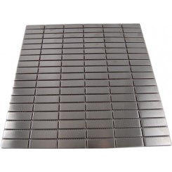 STAINLESS STEEL 1/2 X 2&quot; METAL TILE STACKED PATTERN&quot;_MAIN