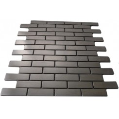 STAINLESS STEEL .75x2.5&quot; METAL TILE BRICK PATTERN&quot;_MAIN