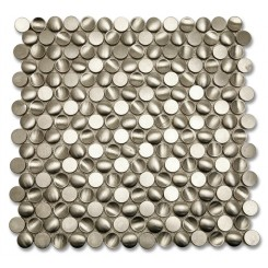 Convex Circles Stainless Metal Tiles