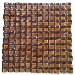 Gaby Summer Honey Bubble Glass Tiles