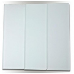 Sample - Loft Super White Polished 4x12 Glass Tiles 1/2 Piece Sample