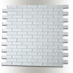Loft Super White 1/2x2 Brick Pattern
