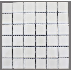 Loft Super White Polished 2 X 2 Glass Tiles