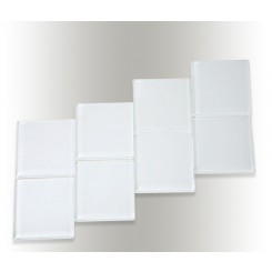 Loft Super White Polished 4 X 4 Glass Tiles