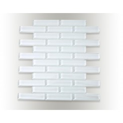 Loft Super White Big Brick 7/8x4 Glass Tiles
