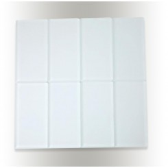 Loft Super White Frosted 3 X 6 Glass Tiles