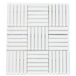 Loft Careen Super White Glass Tile