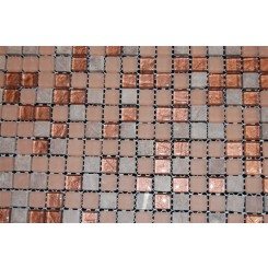 sample-COPPER CLAY BLEND 1/2X1/2 1/4 SHEET SAMPLE TILES SQUARES_MAIN