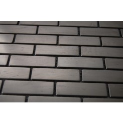 "sample-STAINLESS STEEL .75x2.5"" METAL TILES 1/4 SHEET SAMPLE BRICK PATTERN""_MAIN"