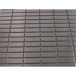 "sample-STAINLESS STEEL STACKED 1/2 X 2"" METAL TILES 1/4 SHEET STACKED SAMPLE""_MAIN"