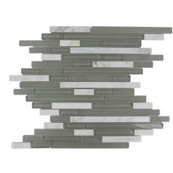 TAO FEATHER GRAY MARBLE & GLASS TILE_MAIN