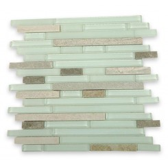Tao Pistachio Ice Marble & Glass Tile