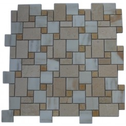 VENETIAN PATTERN CALCUTTA BLEND MARBLE TILE_MAIN