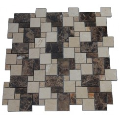 VENETIAN PATTERN DARK EMPERIDOR BLEND MARBLE TILES_MAIN