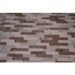 sample-VANILLA CHAI 1/2X2  TILES CRACKED JOINT BRICK, 1/4 SHEET SAMPLE_1