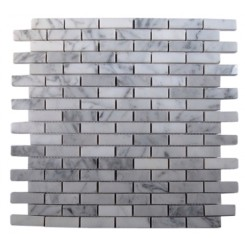 WHITE CARRERA 1/2X2 MARBLE TILE_MAIN