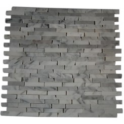 "WHITECARRERA 1/2 X 2"" CRACKED JOINT CLASSIC BRICK LAYOUT MARBLE TILE""_MAIN"