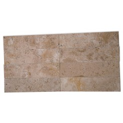 Brushed Stone Travertine 2x8 Marble Tile