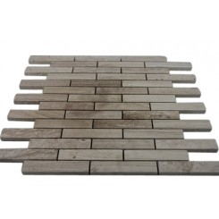 WOODEN BEIGE 3/4 X 4 BIG BRICK PATTERN MARBLE MOSAIC TILES_MAIN