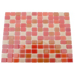 Loft Wild Strawberry 1 x 1 Glass Tiles